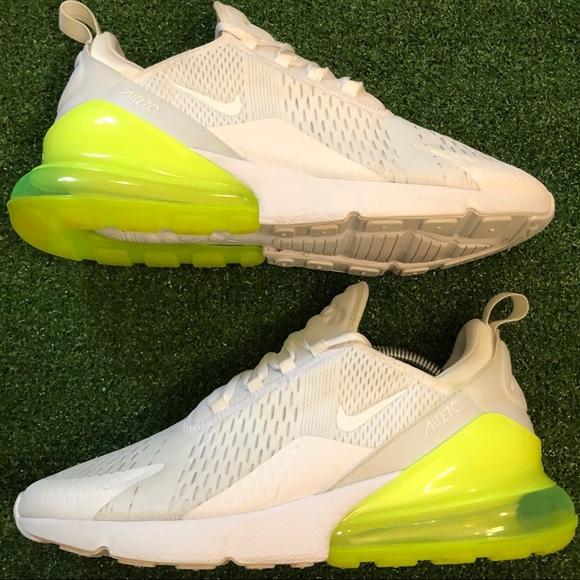 "sale retailer 6f5bb f7b30 Nike Air Max 270 ""White Volt"" White/Neon Yellow"